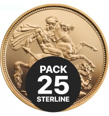 Pack da 25 Sterline - Anni misti