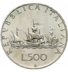 500 Lire Caravelle in argento