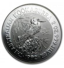 Australia Kookaburra 2 once argento