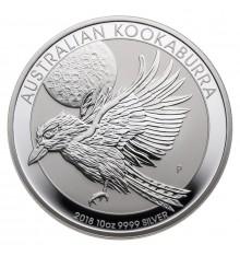 Australia Kookaburra 10 once argento
