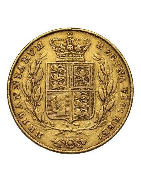 Sterlina oro Vittoria (Stemmata)