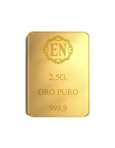 Lingotto oro puro EN 2,5 grammi