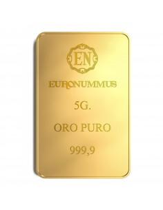 Lingotto oro puro EN 5 grammi