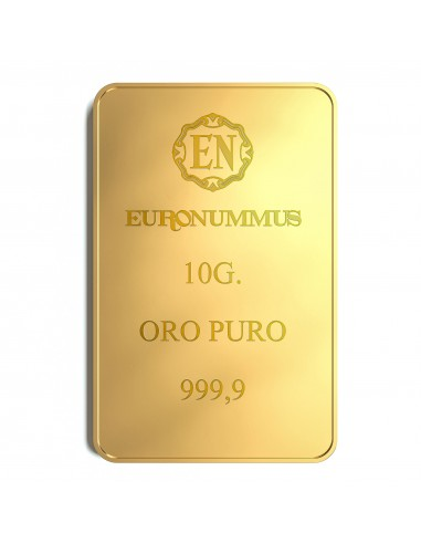 Lingotto oro puro EN 10 grammi