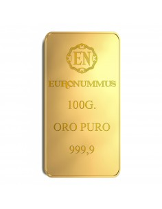 Lingotto oro puro EN 100 grammi