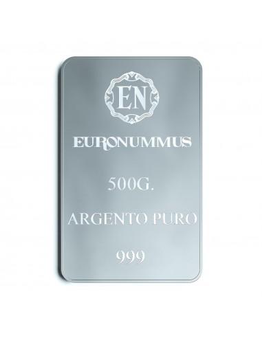 Lingotto argento puro EN 500 grammi